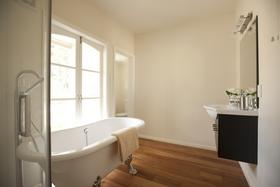 Bathroom with french door