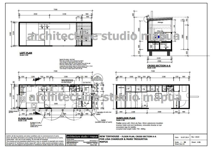 Floor PLan and Cross Section _TinyHouse